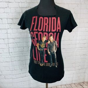 Florida Georgia Line Concert Band T Shirt Black L